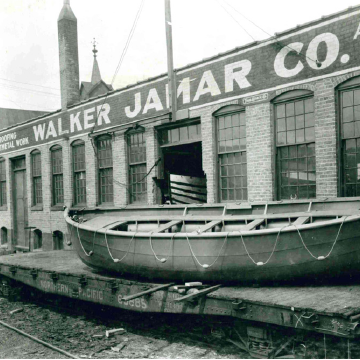 Jamar historical image of boat launch