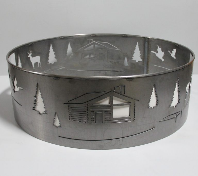 custom metal laser cut fire pit ring