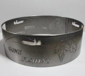 custom metal fishing fire ring