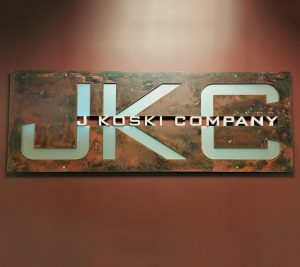 custom metal logo sign