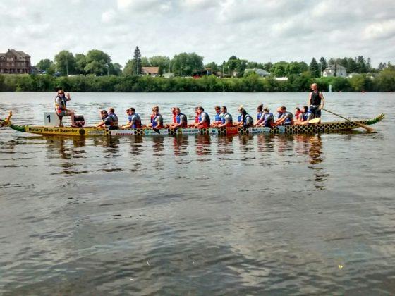 Steel Dragon Boats at Lake Superior
