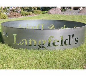 custom metal fire pit ring