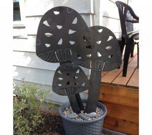 custom metal mushrooms