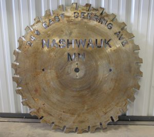 custom metal saw blade sign