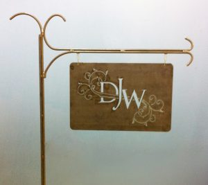 custom metal Shepards Hook Sign