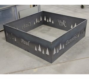 custom square fire pit ring