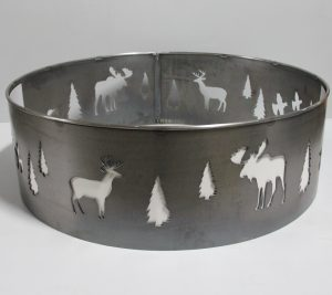custom metal north woods fire ring