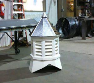 custom metal cupola rebuild