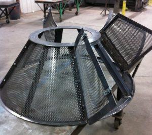 custom metal fire pit lid
