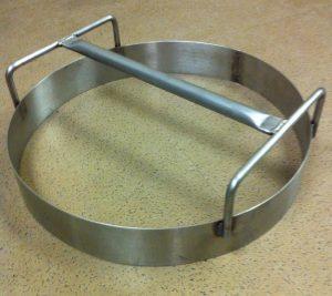 custom metal pizza dough ring